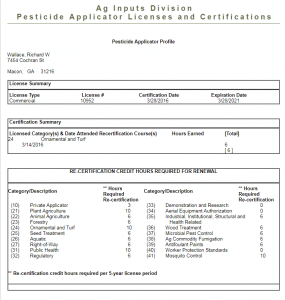 image of pesticide applicator license of best lawn care companies